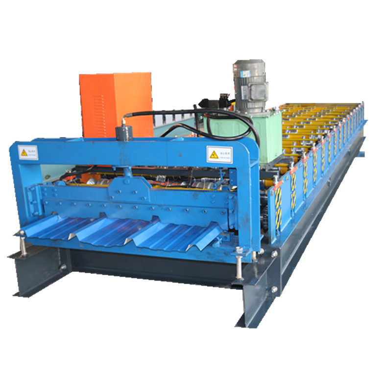 Colored roof and wall roll forming machine