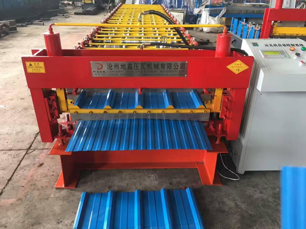 double layer roof tiles machine
