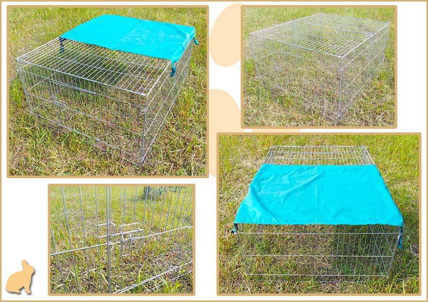 folding rabbit cage