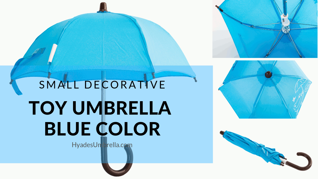 Small Decorative Toy Umbrella Blue Color