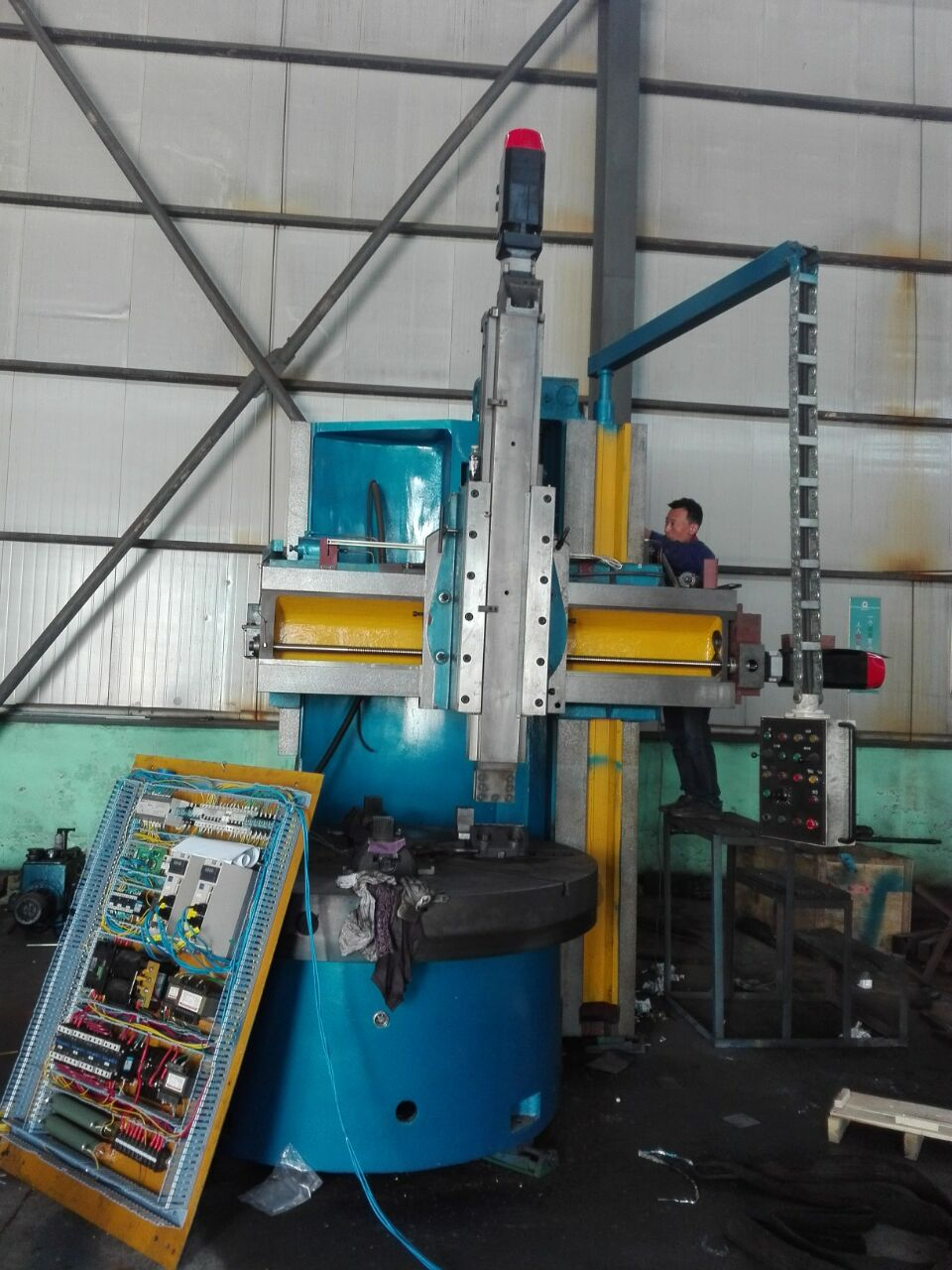 Vertical lathe assembling process