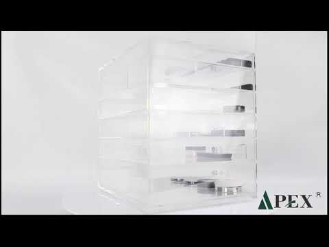 Crystal acrylic make up storage display box