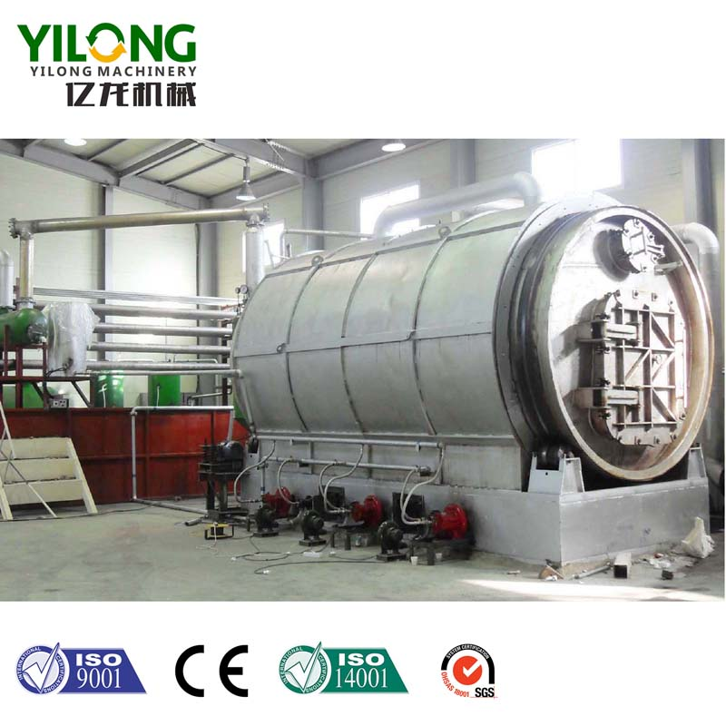 Waste Tyre Pyrolysis Plant in running/ Shangqiu Yilong Machinery