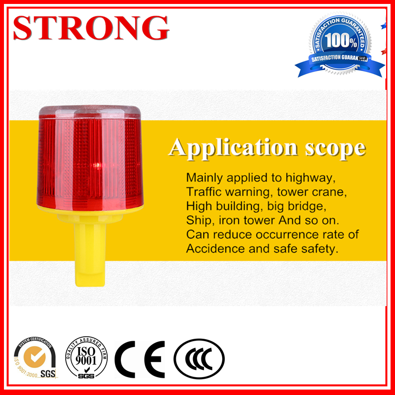 Solar Road Construction Led Barricade Warning Light