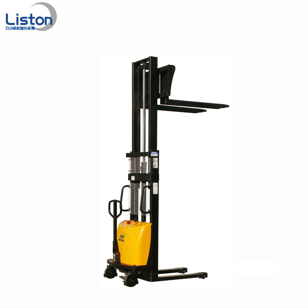 Semi electric stacker application , electric forklift