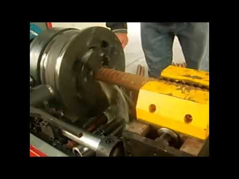 JBG-50 Rebar rib peeling and thread rolling machine operation video