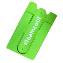 Customized Printed Cheap Silicone Phone Stand Card Holder