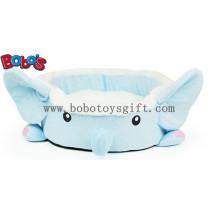 Linda pelúcia cartoon azul elefante forma pet cama para cachorrinho gato cão Bosw1094 / 45x40x13cm