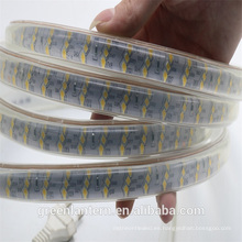 Alto brillo SMD2835 blanco cálido 180leds / m 220v luz de tira llevada impermeable