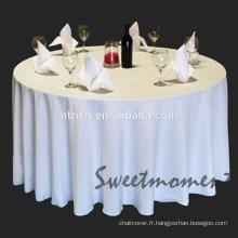 nappe polyester de 100 % à peu de frais et de qualité, couverture de table de fête, linge de table