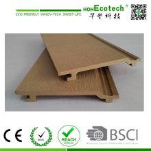 Fachada de parede composta de madeira de plástico