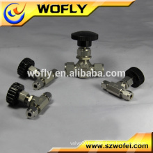 China Manufacture PTFE seal stainless steel needle valve 1/4
