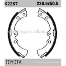 04496-28020 K2267 für Toyota Daihatsu Bremsbackenbelag Dicke