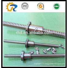 Vis à billes à roulement à froid SFU4005 pour machine CNC
