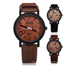 Yxl-856 Simulation Wooden Relojes Quartz Men Watches Casual Wooden Color Leather Strap Watch Wood Male Wristwatch Relogio Masculino