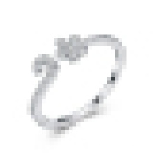 Женская 925 стерлингового серебра небольшой сливы кольцо открытие