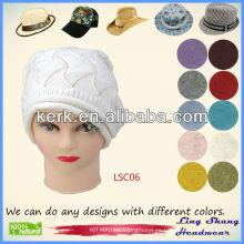 2013 Sombrero 100% del algodón de la boina de las mujeres del sombrero de la manera del sombrero del algodón de la manera, LSC06