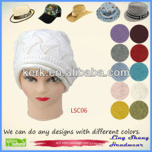 2013 Fashion 100% Cotton Hat fashion hat women beret cotton hat , LSC06
