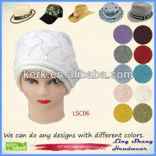 2013 Moda 100% Algodão Chapéu moda chapéu mulheres boina chapéu de algodão, LSC06
