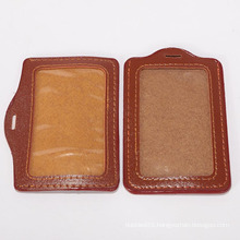 Fashion high quality leather neck ID card holders