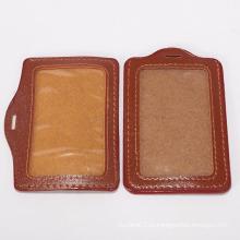 Держатели удостоверения личности шеи высокого качества кожаные