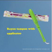 Natual Free Free Sample Super Absorbent Viscose Tampons para mujeres