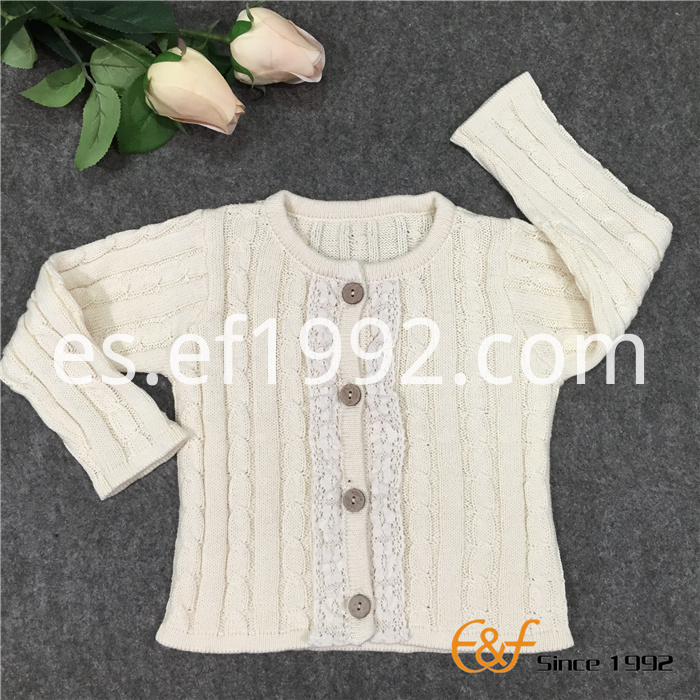 cotton lace cardigan sweater