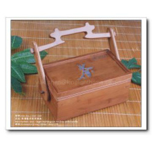 Bamboo Tea Box Design with handle