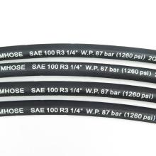 High Pressure Sae 100 R3  5/16 Inch Gray Cloth Surface Oil Rubber Air Water Hose