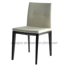 Silla de comedor de madera tapizada moderna con el asiento de cuero (SP-EC730)