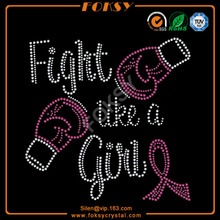 Fight like a girl rhinestone transfers wholesale