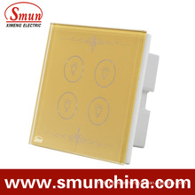 4key Touch Switch Golden Lamp Switches for Wall