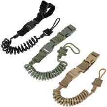 Adjustable pistol lanyard New durable tactical rifle sling  Handgun Shooting Military Bag Spring Strap