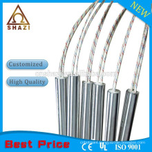 With high temperature leads cartridge heater