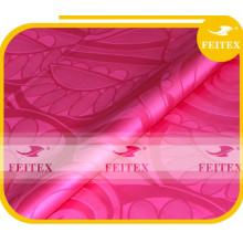 rosa roja algodón bazin riche africano brocado tela boubou ventas al por mayor en línea
