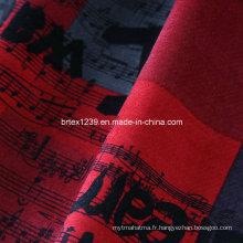 100% coton 21 Wales Print Velveteen-Like Corduroy