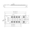 Распределительная коробка M8 с литым разъемом DB15