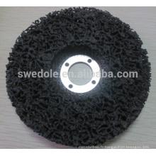nettoyer les disques de bande avec le support de fibre de verre