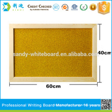 yellow surface wooden frame push pin cork notice board                                                     Quality Assured