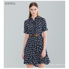 Vestido de mujer estampado floral de moda para el verano