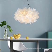 Cloud chandelier pendant lamp cloud shape of cloth art creative kid pendant light fixtures