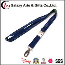 Dark-Blue Woven Polyester Neck Lanyard / Strap