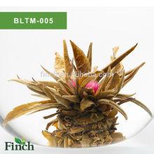 Mejor regalo de Chirstmas certificado de la UE Chino artesanal hecho a mano sabor de la fruta Blooming Tea Ball