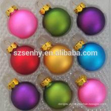 Atacado Bola de Natal à prova de explosão Ornamentos Vidro