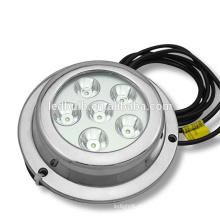 Luz do diodo emissor de luz 6x3W LED / luz subaquática do barco / luz do iate do barco