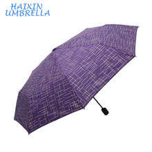 Wholesale Chinese supplier Pocket Famous Brand Adjustable Three Folding Business Solid Sunshade Guangzhou Best Umbrella for Wind
