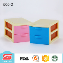 Small size 2 layer drawer plastic organizer storage box with multi use