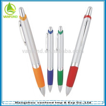 Popular office stationery products promotional plastic ball pen with grip
