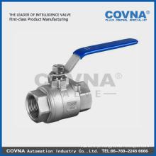 Alavanca de bloqueio em aço inoxidável com válvula de esfera de furo completo