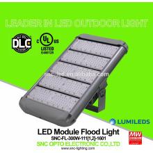 O UL DLC alistou a luz de inundação alta do mastro do diodo emissor de luz de 300 watts com o motorista bom do HLG do meio